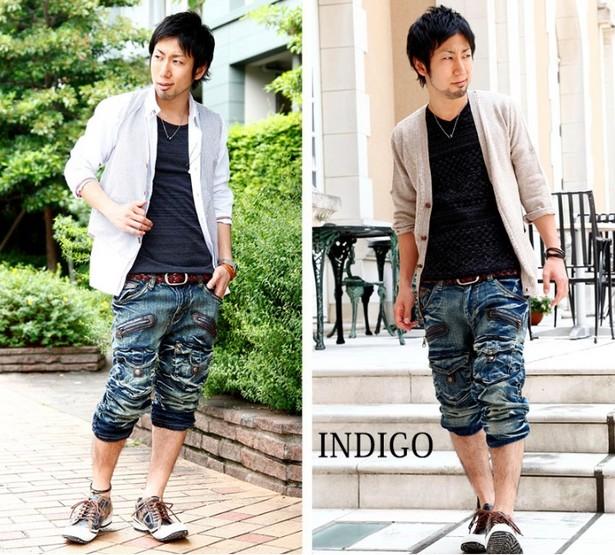 デニムハーフパンツ×シャツのワイルドコーデ!!【メンズファッション夏10代】高校生